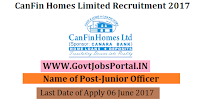 CanFin Homes Limited Recruitment 2017– Junior Officers