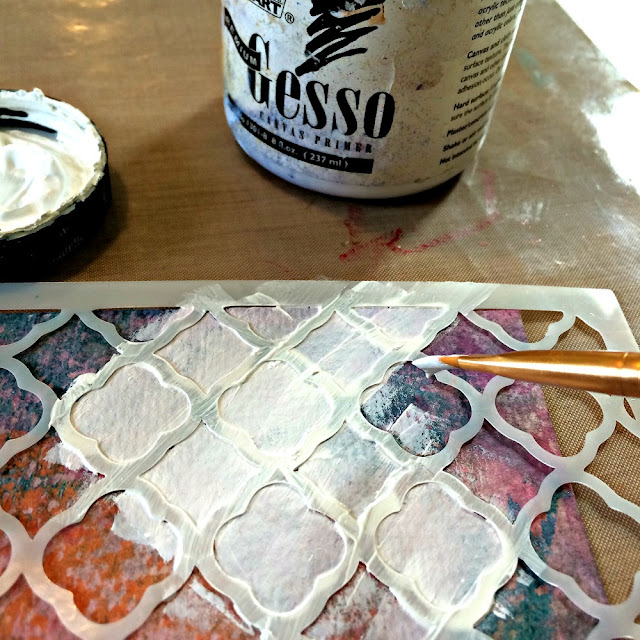 making_card_background_with_gesso