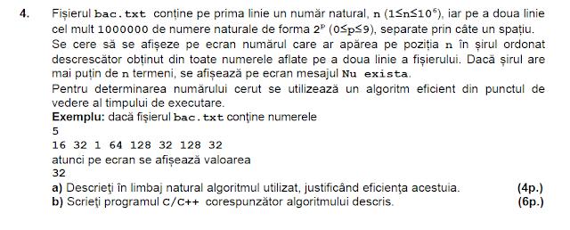 model bac 2015 matematica informatica
