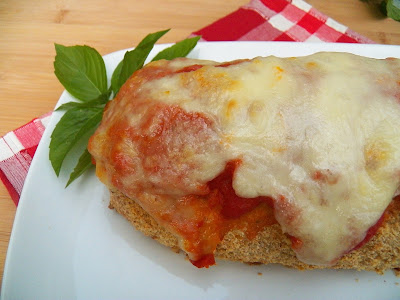 Chicken Parmesan Meatloaf, uncut