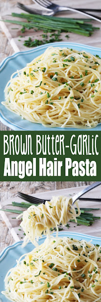 brown butter garlic angel hair