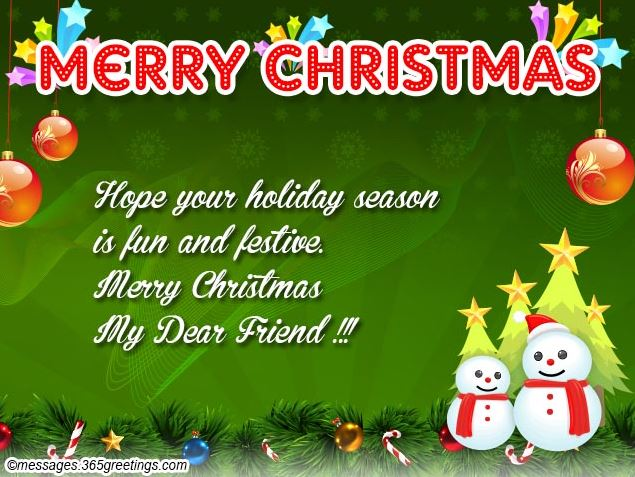 Christmas Greetings for Friends Image