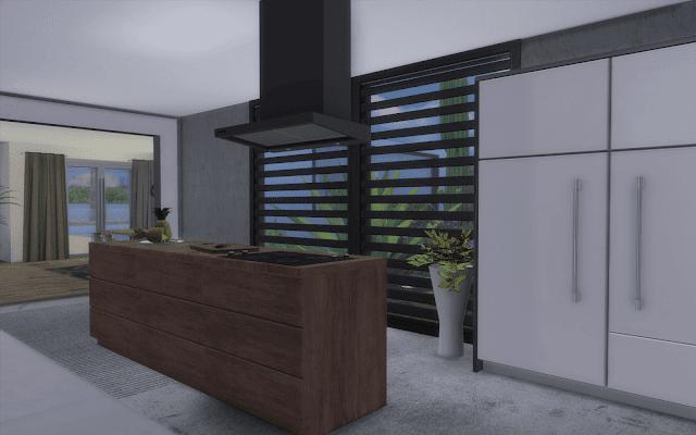 cuisine béton Sims 4