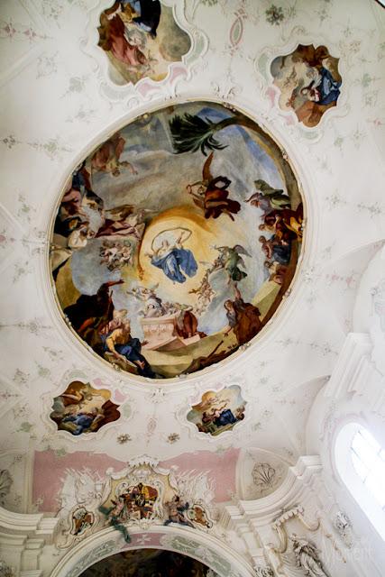 Deckenmalerei Kirche Mainau