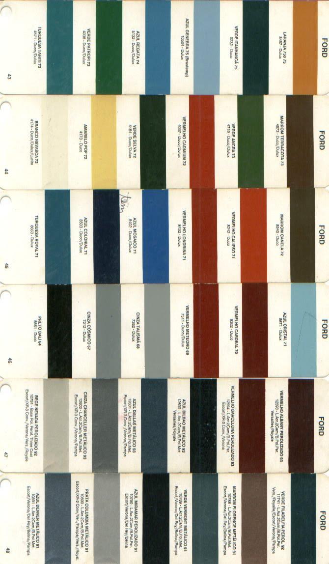 Catalogo de cores automotivas online dating 10