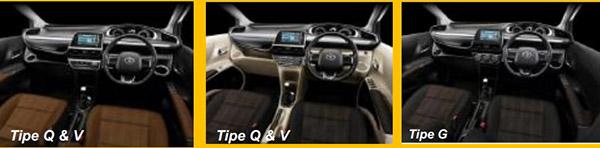 Kabin Toyota SIenta Tipe Q dan V