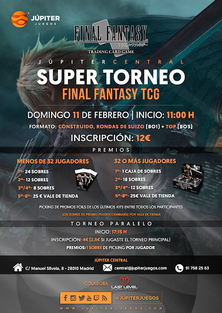 SUPER TORNEO 11/2/18 - Júpiter Central (Madrid)