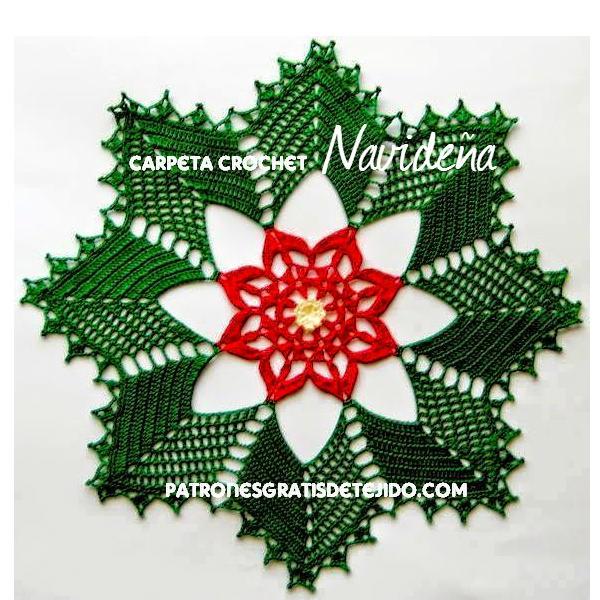 Carpeta de navidad crochet