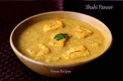 Shahi Paneer (Restaurant Style) - Punjabi Shahi Paneer