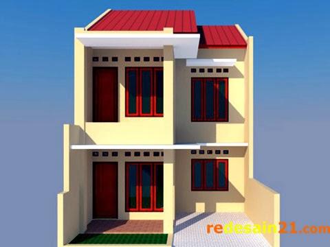 Gambar Desain Rumah Sederhana 2 Lantai Luas Bangunan 90 M2 Redesain21 Com Rumah Properti Desain Eksterior Interior Tutorial