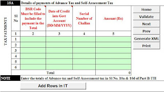 Itr return 5,income tax return form 5,income tax return online form5,how to fill up itr return online,computation of income,self assessment tax,advance tax,income tax,