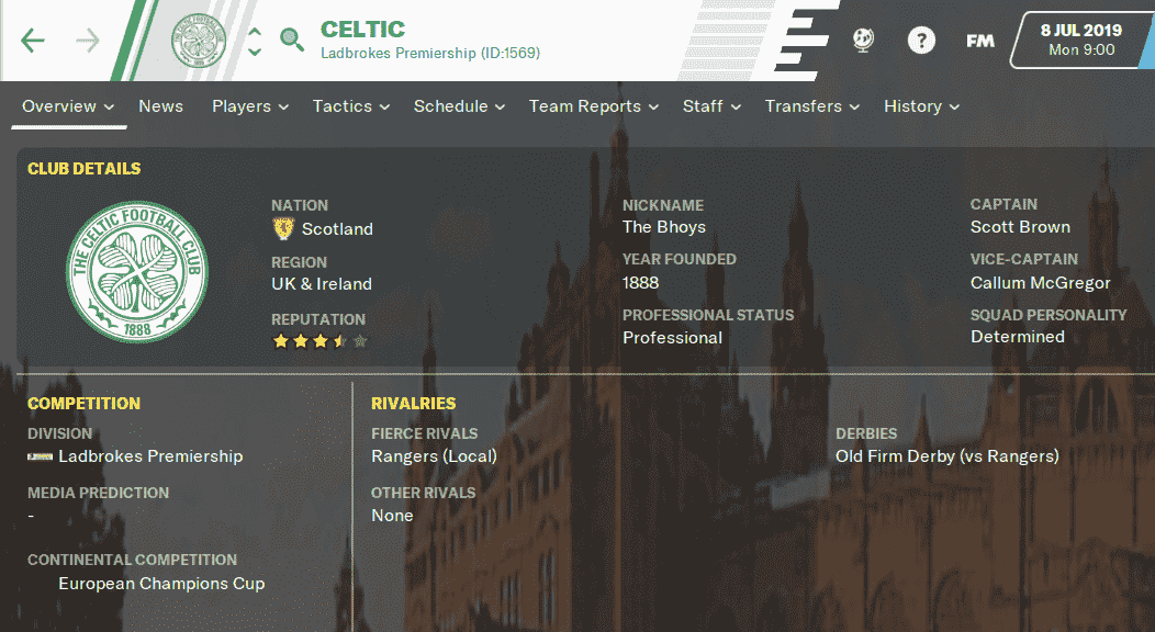FM20 Team Guide - Celtic