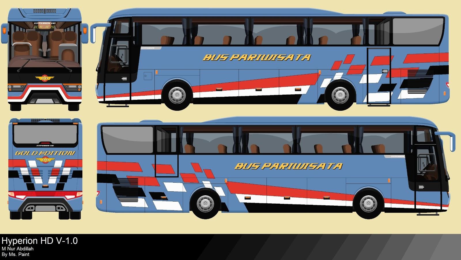 Sketsa Gambar Bus Legacy Sobsketsa