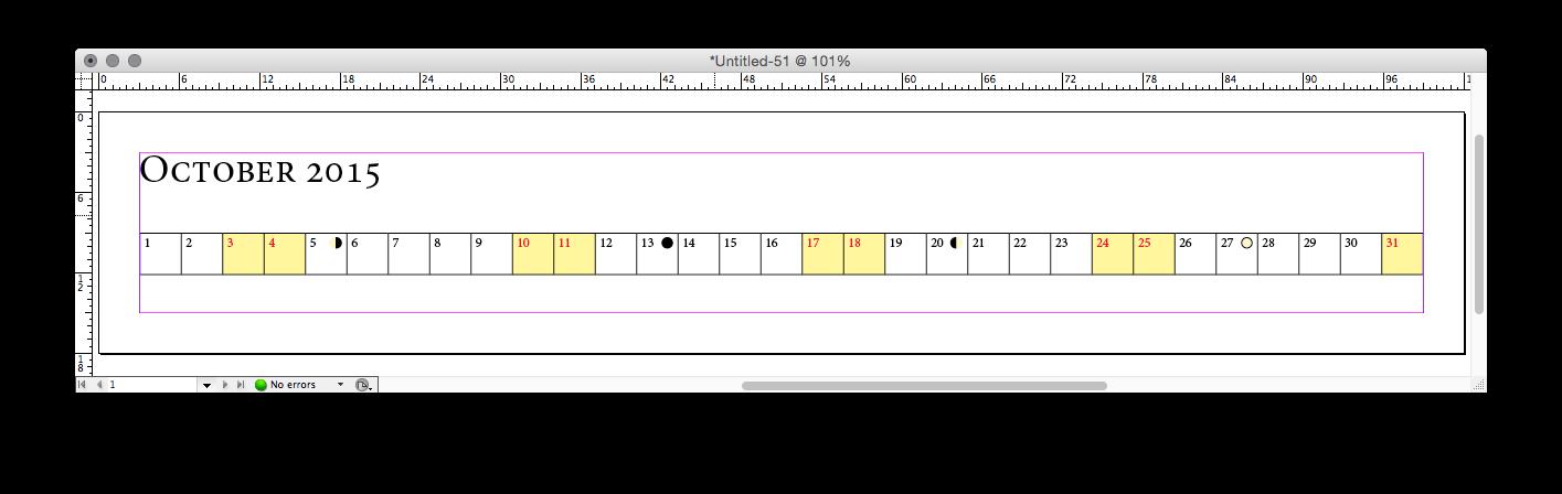 Calendario Indesign.Crear Un Calendario Automaticamente En Indesign Profeivan