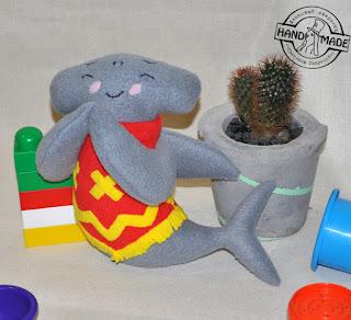 акула из флиса мягкая игрушка