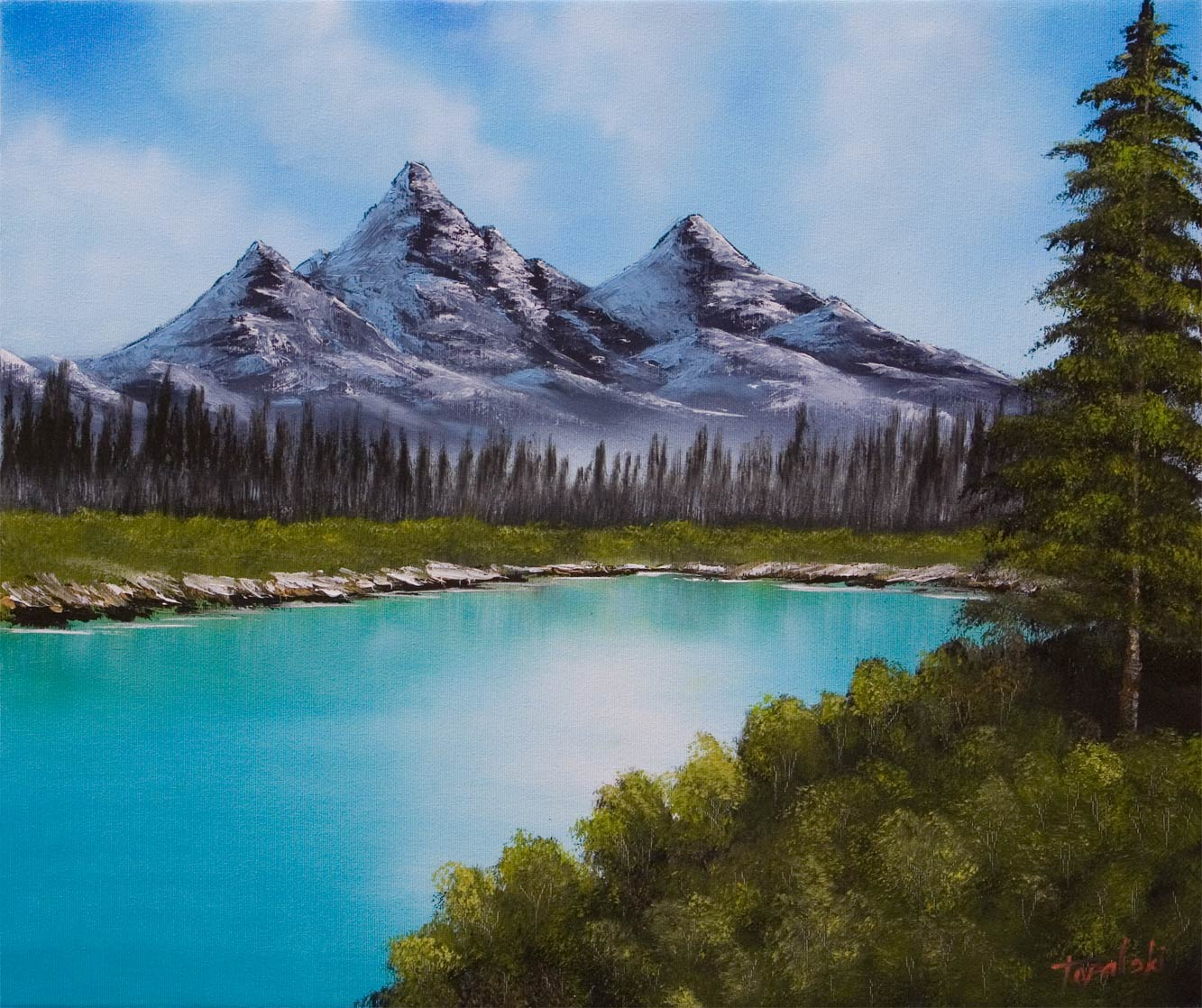 Mountain Pictures Mountains Painting