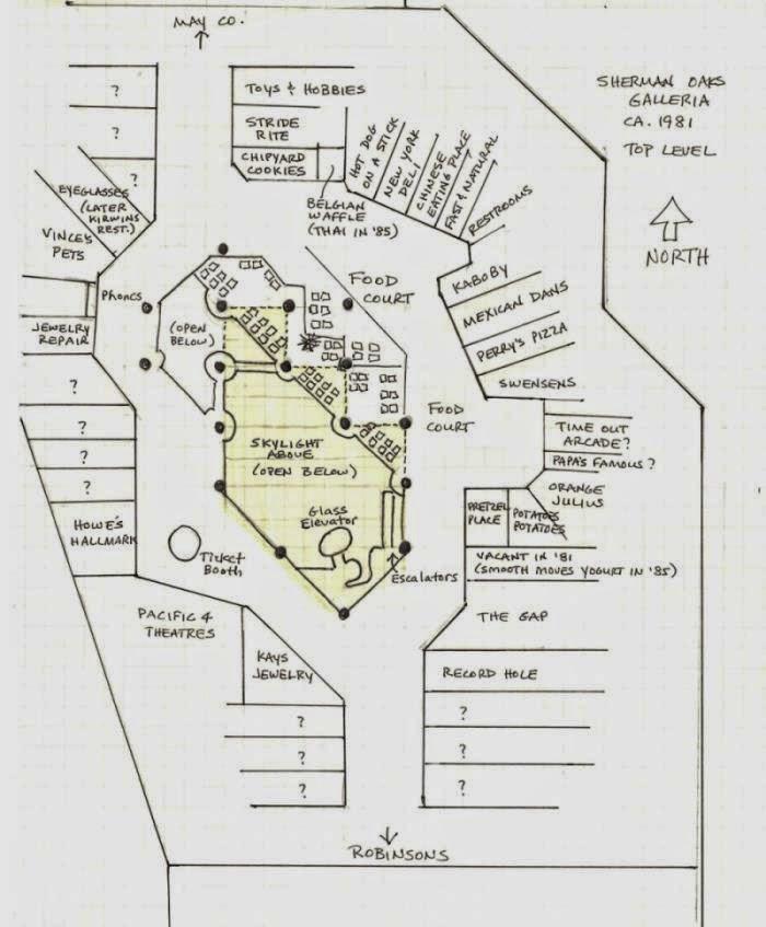 Macy S Herald Square Floor Plan: The Tarp Report: Sherman Oaks Galleria 1981 Floor Plan
