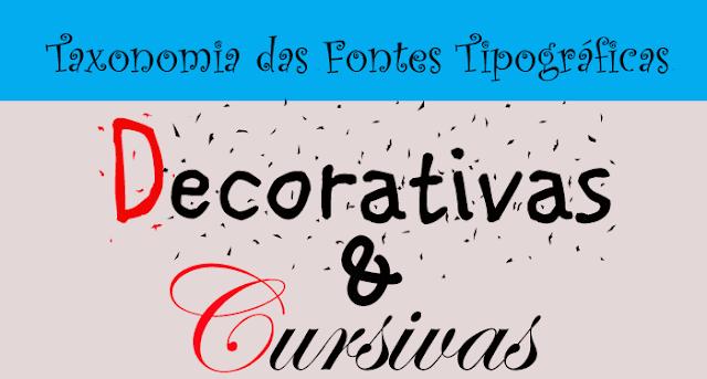 fontes decorativas e cursivas