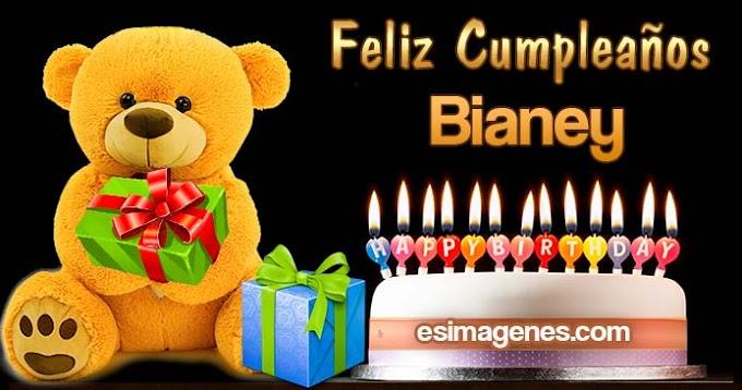 Feliz Cumpleaños Bianey