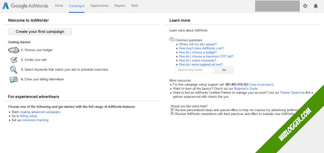 cara riset keyword - google adwords berhasil dibuat