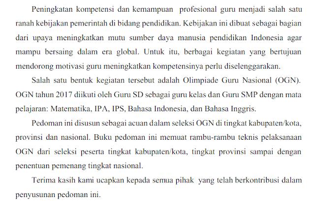 Cakupan Materi OGN  Matematika, IPA, IPS dan Bahasa Indonesia SD 2017
