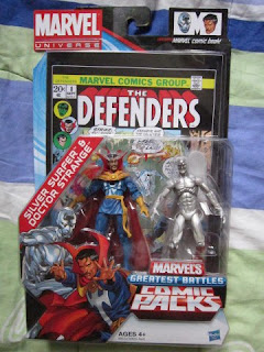 Marvel Universe Legends Defenders Dr Strange Silver Surfer Avengers Valkyrie Hulk Hawkeye Red Ghost issue 8 Submariner Luke Cage Iron Fist Black Knight Nighthawk