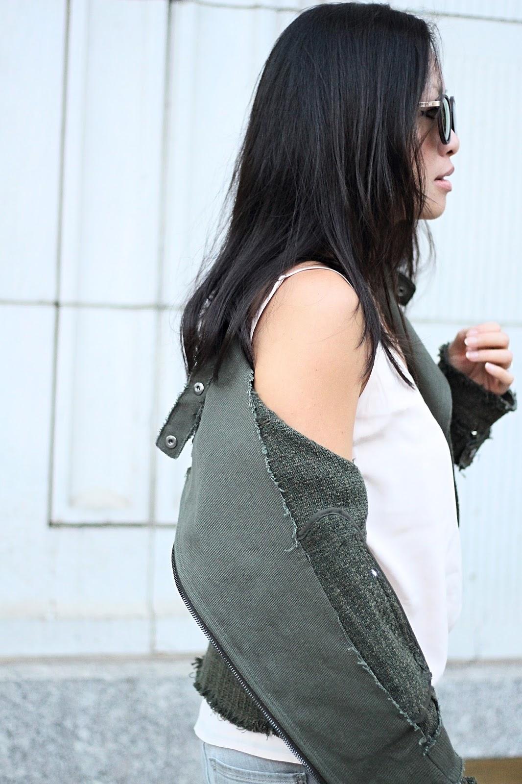 Tweed jacket fur mules fall fashion