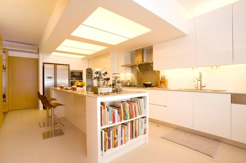 As The Brightest Colour, White Reflects Light, Making Even The Smallest Of  Kitchens Seems Spacious.