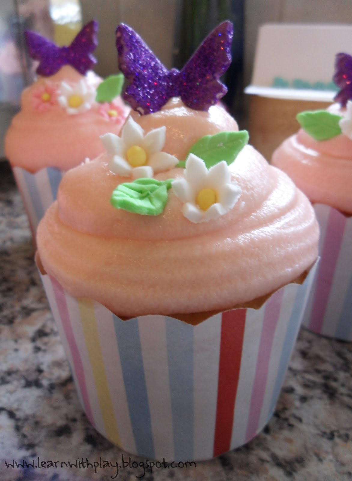 Butterfly Birthday Cake Cupcake Idea Decorated