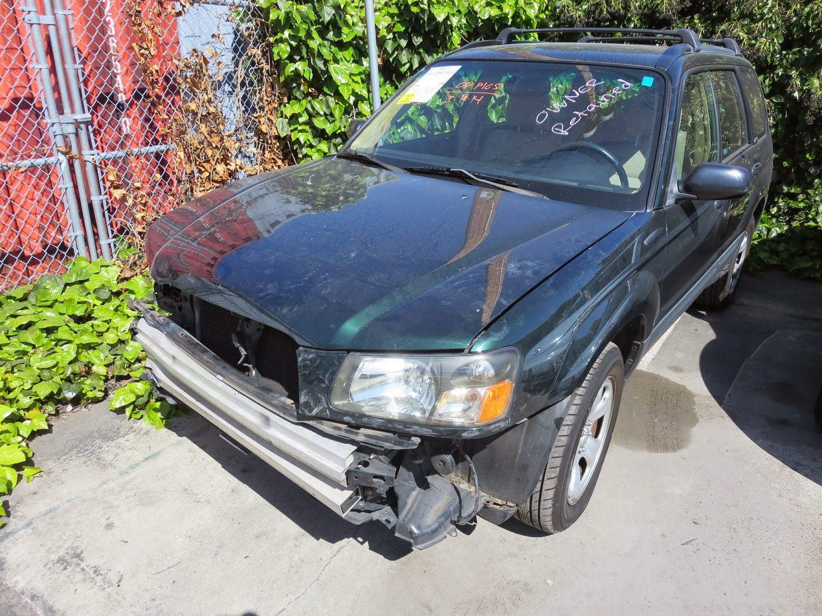 Car before auto body collision repair at Almost Everything Auto Body