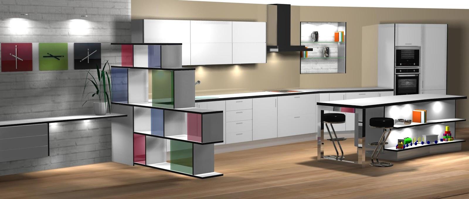 Diseño muebles de cocina: Diseño de cocina comedor lacado en ...