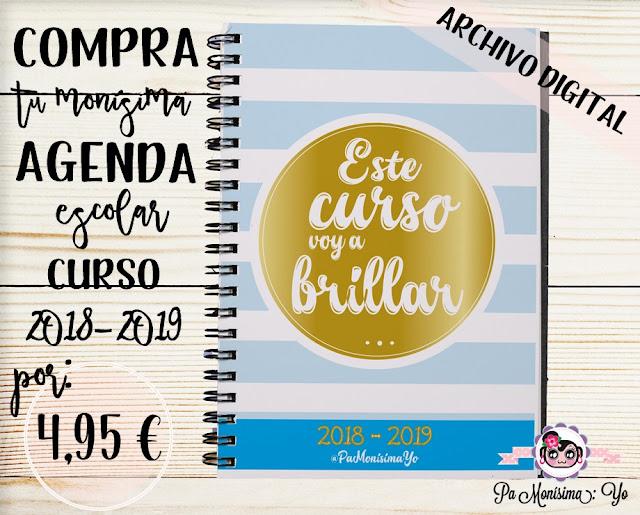 Comprar Agenda Escolar 2018 2019 monísima pamonisimayo