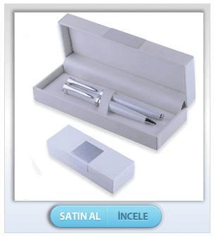 Beyaz Kutulu 2'li Kalem Seti
