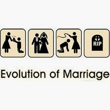 funny marriage evolution joke picture