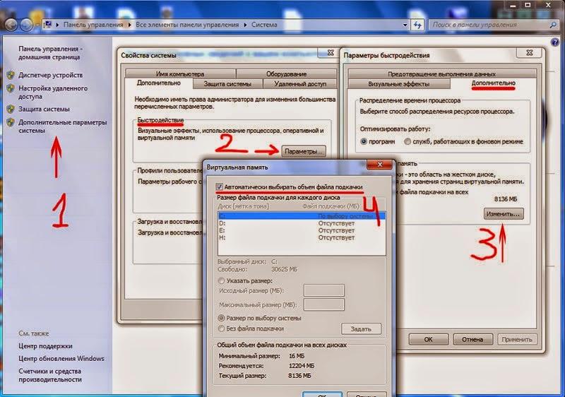 pagefile.sys - файл подкачки - виртуальная память.