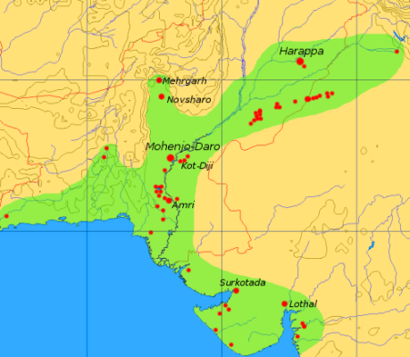 Interesting Facts And Information About Indus Valley Civilization - World map of ancient river valley civilizations