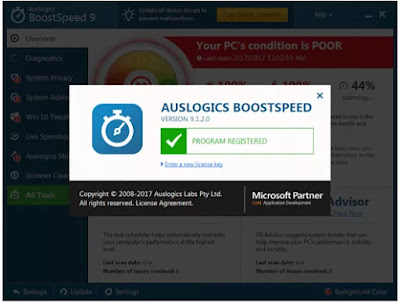 Auslogics BoostSpeed ​​9 Serial Key Free Download