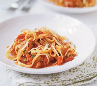 spicy tomato tagliatelle recipe