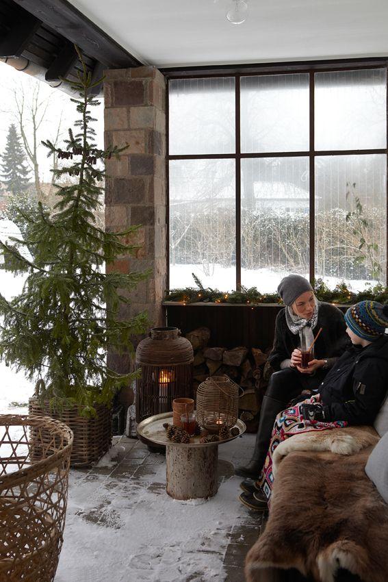 La fabrique d co no l au balcon terrasses et jardin for Decoration exterieur hiver
