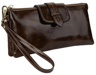 CHEAP DEALS Yaluxe Women's Genuine Leather Wristlet Wallet Smartphone Clutch £31.44