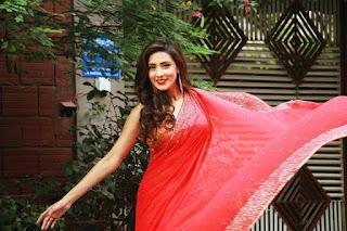 Bidya Sinha Saha Mim In Red Saree