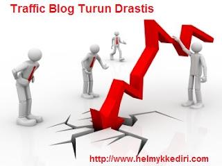 Penyebab Traffic Blog Turun Drastis