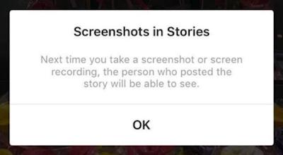 Bir daha ki sefere ekran görüntüsü veya ekran kaydı alırsanız, hikaye sahibi bunu görebilecek.