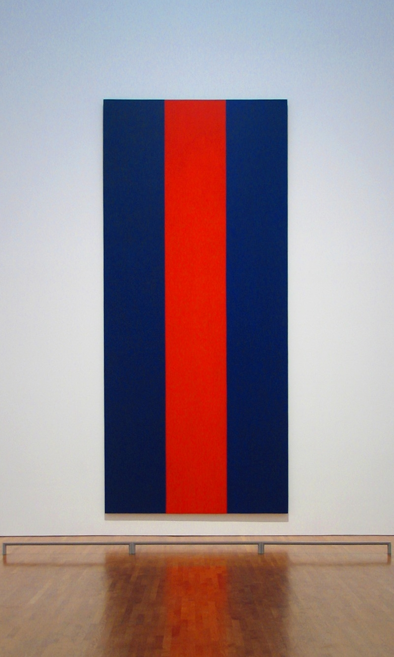 Barnett Newman 1905-1970 - Voice of Fire, 1967 | Minimalist Art Movement