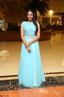 Pujita Ponnada in transparent sky blue dress at Darshakudu pre release ~  Exclusive Celebrities Galleries 020.JPG