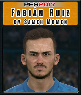 PES 2017 Faces Fabián Ruiz by Sameh Momen