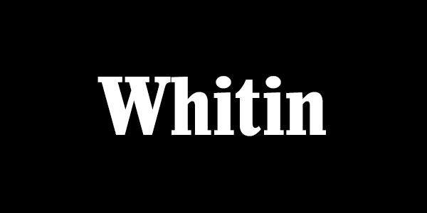 Free Bold Serif Font - Whitin Bold