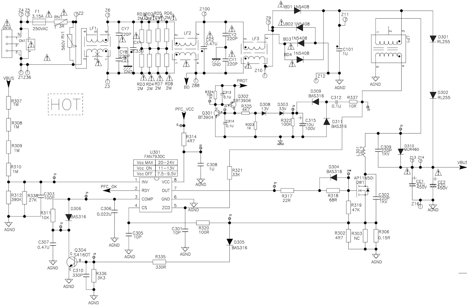 tcl les9b21 lcd tv power supply regulator schematic electrotricks figure 2 block diagram of an lcd tv power supply [ 1600 x 1047 Pixel ]