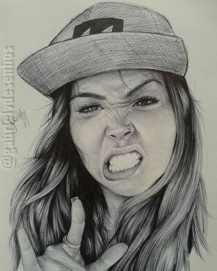 08-Growling-Gabriel-Vinícius-Expressions-in-Ballpoint-Pen-Portraits-www-designstack-co