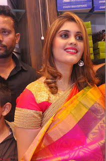 Surabhi looks stunning in Saree at Nakshatra Fashion Store Launch at Suchitra X Road 18.JPG